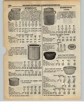 1937 PAPER AD Stoneware Butter Chrn High Jar Milk Pan Crock Indian Logo