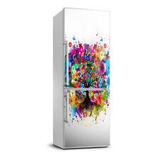 3D Wall Fridge Sticker Magnet Decor Refrigerator Modern Abstract tree
