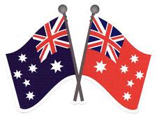 AUSTRALIAN NATIONAL FLAG &  AUSTRALIAN MERCHANT NAVY VINYL STICKER 90X130MM