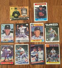 Dealers Lot Of 10 Different Phil Niekro Signed NY Yankees Baseball Cards HOF 97