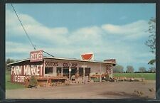 WI Spring Green CHROME 1960's REEVE'S FARM MARKET Fruit Stand COLD POP on Hwy 14