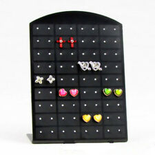 New 72 Holes Earrings Jewelry Show Black Plastic Display Stand Holder Showcase