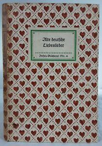 Alte deutsche Liebeslieder. Insel-Bücherei 4. ca.1940