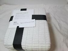 New DKNY Grid Knit Throw Blanket JETE 50x60 - Ivory  New