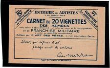 France Military stamp booklet of 10 (Maury 10A) - Catalog Value 150 Euros ++