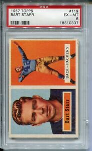 1957 Topps Football #119 Bart Starr Rookie Card RC Graded PSA Ex Mint 6 Packers