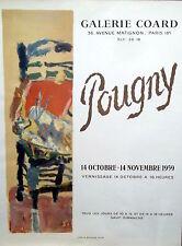 Affiche expo Pougny 1959 litho René Guillard Paris P1522