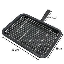 Premium Single Handle Enamelled Grill Pan & Rack for IKEA Oven Cooker