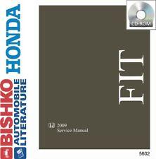 2009 Honda Fit Shop Service Repair Manual CD Engine Drivetrain Electrical Guide