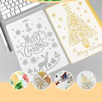 Christmas Layering Hollow Stencils DIY Scrapbooking Stamping Painting Stamp