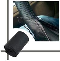 COUVRE VOLANT UNIVERSEL respirant  PU cuir noir pour voiture