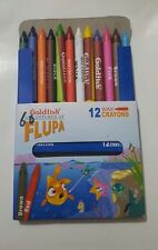 12 x Wax Crayons Pack Assorted Colours Kids Pencil Set School Children Colouring