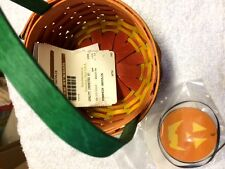 Longaberger Pumpkin Gholic Basket and Tie-on - New