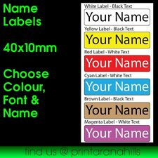 Custom 40x10mm Printed Name Labels Stickers x 30 Waterproof - CP00999