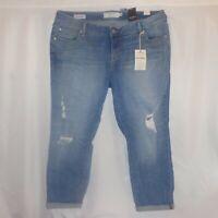 Torrid Jeans 16/18/22/26 Boyfriend Distressed Ripped Cropped Capri Plus Size NWT