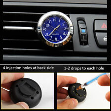 Car Quartz Clock Watch A/C Vent Clip Perfume Refill Storage Fragrance Reserve