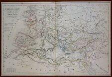 Map Carte Empire Romain depuis Auguste jusqu'à Dioclétien Atlas Delamarche 1845