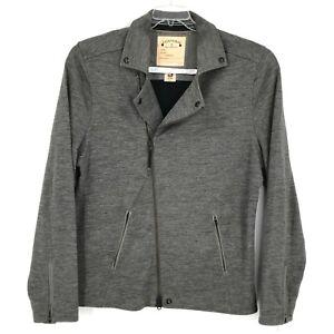 Converse John Varvatos Jacket Adult 2XL XXL Gray Full Zip Wool Blend Collar Mens