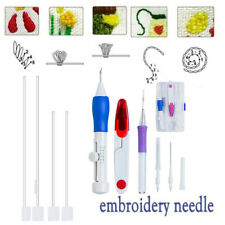 /1Set DIY Embroidery Pen Stitching Punch Needle Kits with Scissor Sewing Kits/.-