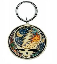 "Dan Morris GRATEFUL DEAD Celestial STEAL YOUR FACE Key Ring 2"" X 2"" ©GDP"