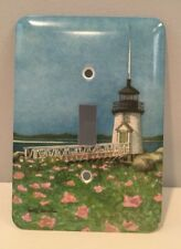 New Metal Decorative Lighthouse Light Switch Cover Signed By Kathy Johnston