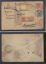 Latvia   26,27,29  on registered cover  1919         EX0410