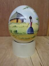 Hand Painted Ostrich Egg.