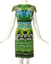 MARY KATRANTZOU-Printed Silk Bow Dress, Size-6
