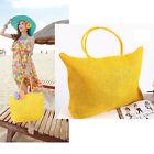 Women Straw Weave Shoulder Tote Shopping Lady Beach Bag Purse Handbag