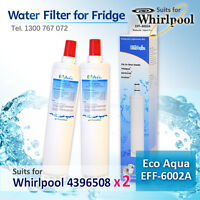 2X WHIRLPOOL 4396508 FRIDGE WATER FILTER  Generic filter  suit for 6ED2FH6X5l00