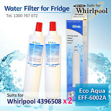 2X ECO AQUA EFF-6002A REPLACEMENT FOR WHIRLPOOL 4396508 FRIDGE WATER FILTER