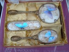 Antique Four Piece Butterfly Wing  Vanity Set in Box -  Never Used -- Lovely
