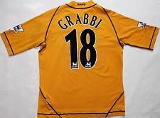 CORRADO GRABBI MATCH WORN SHIRT - BLACKBURN ROVERS 2003/04 AWAY JERSEY - ITALY