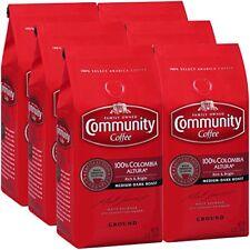 Community Coffee Premium 100% Colombia Altura Medium-Dark Roast, 12 Oz (6 Pack)