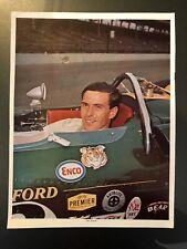 F1 INDY ORIGINALLY SIGNED AUTOGRAPH JIM CLARK VINTAGE MAGAZINE PAGE RAYBESTOS