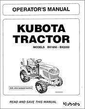 Kubota Tractor Bx1850 Bx2350 Operators Maintenance Manual