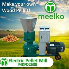 "PELLET MILL 15kw  ELECTRIC ENGINE 10"" DIE 3 PHASE USA STOCK (8mm WOOD)"