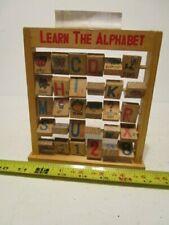 "Vintage Wooden ""Learn the Alphabet"" Flip Blocks"
