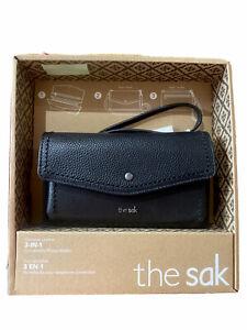 The Sak Genuine Leather 3in1 Convertible Phone Wallet Women Crossbody Purse Bag