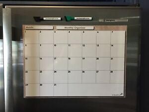 A3 Monthly Organiser Daily Weekly Planner Magnet Fridge Whiteboard Calendar 2pen