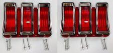 Pair Tail Light Lenses & Bezels for 1967-68 Ford Mustang
