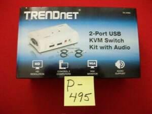 BRAND NEW TRENDnet 2-PORT USB KVM SWITCH KIT WITH AUDIO # TK-209K PLUG & PLAY