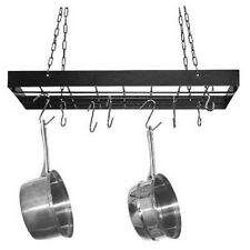 Rack Pot Kitchen Pan Hanging Organizer Holder Storage Cookware Mount Wall Hanger