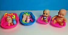 New & Used Small Baby Dolls & Bath & Accessories x 4 Girls Toys