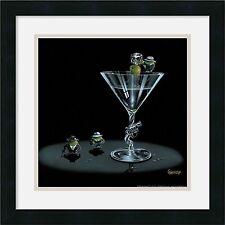 "Michael Godard,"" Gangster Martini"", Framed Art, W/Matting  18x18"