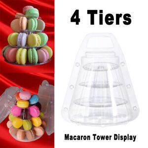 4 Tier Macaron Tower Display Plastic Cupcake Holder Stand Wedding Party Decor