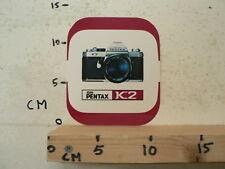 STICKER,DECAL ASAHI PENTAX K2 CAMERA 13 CM