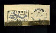 SONDERSTEMPEL-- München-- Luftpost bringt Zeitgewinn -- 1937 --