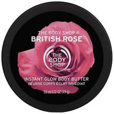 The Body Shop British Rose Instant Glow Body Butter Travel 50ml | FREE SHIPPING
