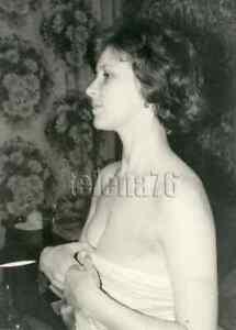 1980s Soviet Pretty Young Woman Bare Shoulders Breast Neckline Russian photo